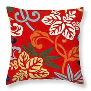 Nishike Brocade With Paulownia Arabesque Throw Pillow