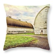 Nisqually Twin Barns Throw Pillow