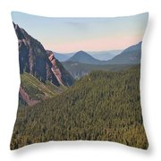 Nisqually Valley In Color Throw Pillow