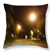 Nite Walk Throw Pillow