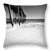 Nj Shore In Black And White Throw Pillow