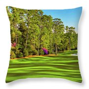 No. 10 Camellia 495 Yards Par 4 Throw Pillow