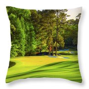 No. 11 White Dogwood 505 Yards Par 4 Throw Pillow