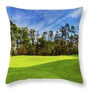 No. 14 Chinese Fir 440 Yards Par 4 Throw Pillow