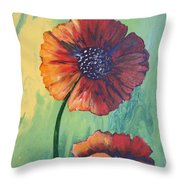 No. 17 Spring And Summer Floral Series Throw Pillow