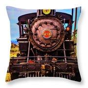 No 29 Virgina Truckee Train Throw Pillow