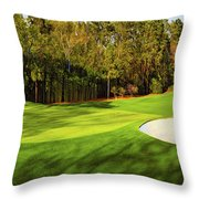 No. 4 Flowering Crabapple Par 3 240 Yards Throw Pillow