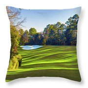 No. 5 Magnolia 455 Yards  Par 4 Throw Pillow