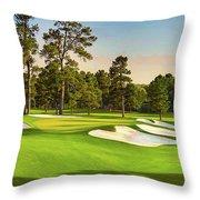 No. 7  Pampas 450 Yards Par 4 Throw Pillow