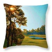 No. 9 Carolina Cherry 460 Yards Par 4 Throw Pillow