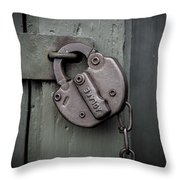 No Admittance  Throw Pillow