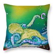 No Bones About It Throw Pillow by Ruth Kamenev