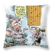 No Child Left Behind Testing Throw Pillow