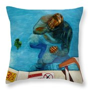 No Diving Throw Pillow