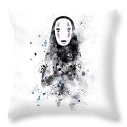 No Face Throw Pillow