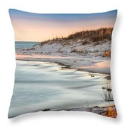 No Footsteps In The Sand #101 Throw Pillow