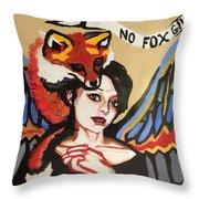 No Fox Given Throw Pillow
