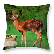 No I'm Not Bambi Throw Pillow