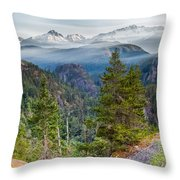 Colorful Wilderness Throw Pillow