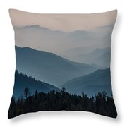 Misty Blue Shades Of Generals Highway 2 Throw Pillow