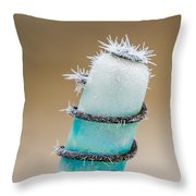 Hoar Frost Crystal Throw Pillow