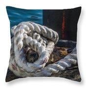 Ship Rope Throw Pillow
