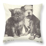 No Knife Can Cut Our Love In Two Throw Pillow