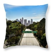 No More Cars In Los Angeles. Throw Pillow