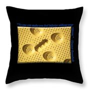 No One Can Make You Feel Inferior Without Your Consent Throw Pillow