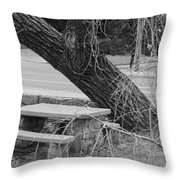 No One Sits Here In Black And White Throw Pillow