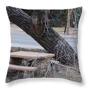 No One Sits Here Throw Pillow