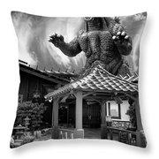No Reservations Bw Dinosaur Deys Throw Pillow