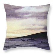 No Safer Harbor Lahaina Hawaii Throw Pillow