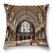 No Sanctuary Throw Pillow