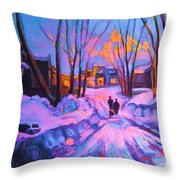 No Sidewalks Throw Pillow