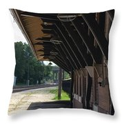 No Sign Of The Train Throw Pillow