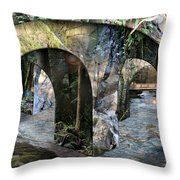 No Simple Highway Throw Pillow by Leslie Kell