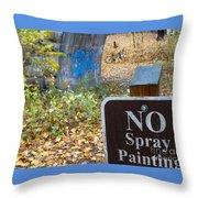 No Spray Painting Throw Pillow