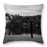 No Swimming Throw Pillow