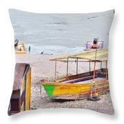 No Swimming - Rishikesh India Throw Pillow