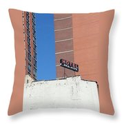 No Tell Motel Throw Pillow