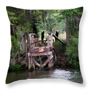 No Trespsassing Throw Pillow