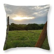 No Tresspassing Throw Pillow