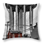 No Turn On Red, Frederick, Maryland, 2015 Throw Pillow
