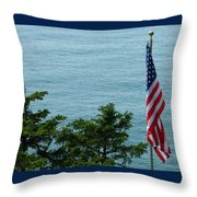 No Wind For Flag Throw Pillow
