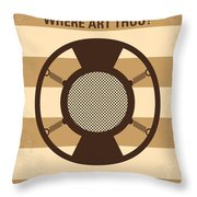 No055 My O Brother Where Art Thou Minimal Movie Poster Throw Pillow