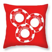 No056 My Oceans 11 Minimal Movie Poster Throw Pillow