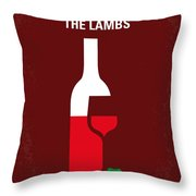 No078 My Silence Of The Lamb Minimal Movie Poster Throw Pillow