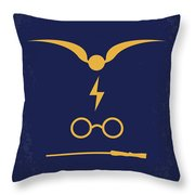 No101-1 My Hp - Sorcerers Stone Minimal Movie Poster Throw Pillow