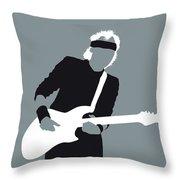 No107 My Mark Knopfler Minimal Music Poster Throw Pillow
